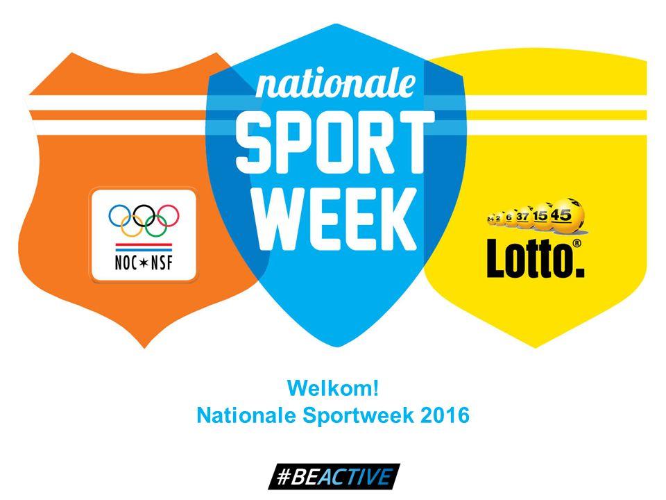 Welkom! Nationale Sportweek 2016