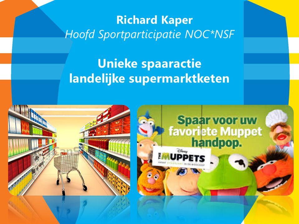 Richard Kaper Hoofd Sportparticipatie NOC*NSF Unieke spaaractie landelijke supermarktketen