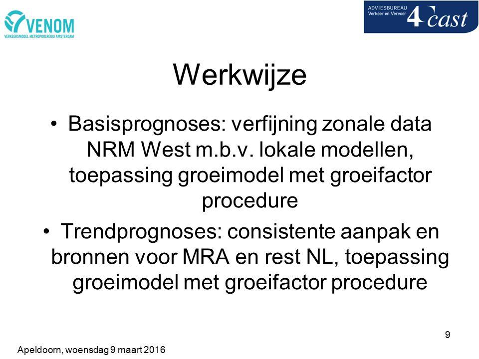 9 Werkwijze Basisprognoses: verfijning zonale data NRM West m.b.v.