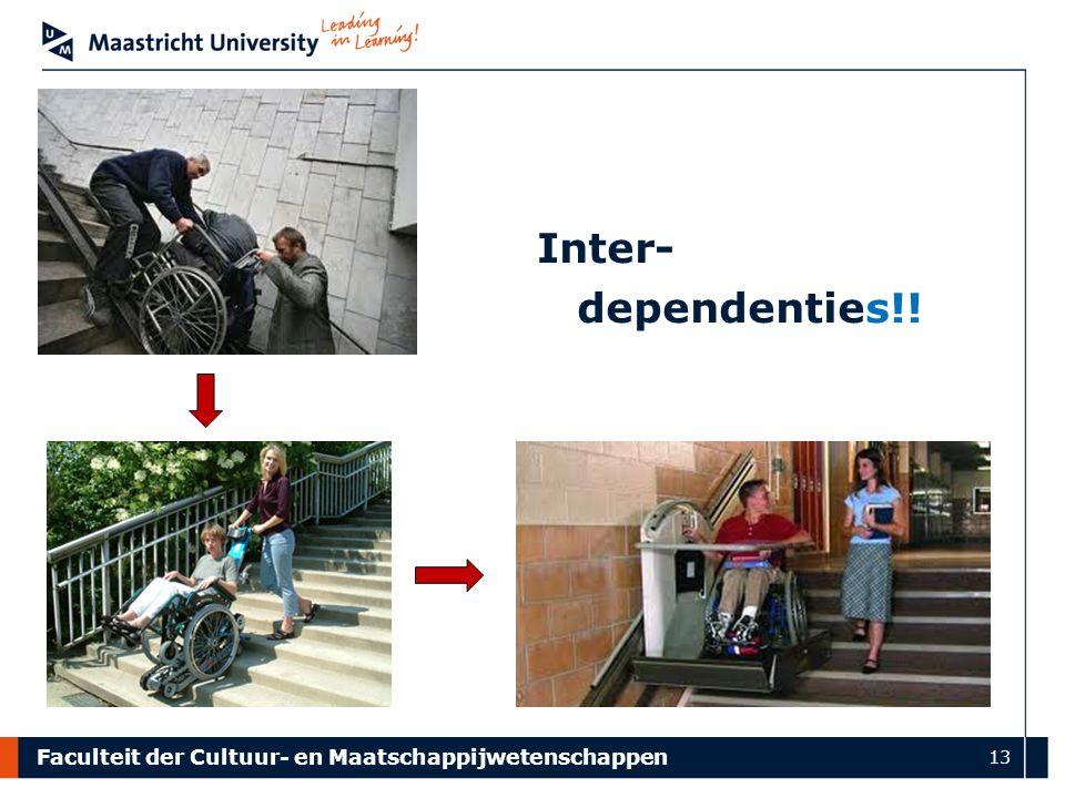 Faculteit der Cultuur- en Maatschappijwetenschappen 13 Inter- dependenties!!