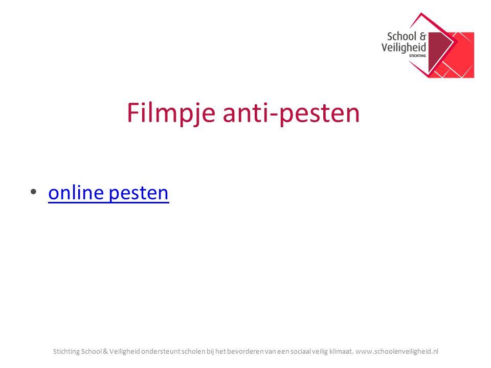 Filmpje anti-pesten online pesten Stichting School & Veiligheid ondersteunt scholen bij het bevorderen van een sociaal veilig klimaat.