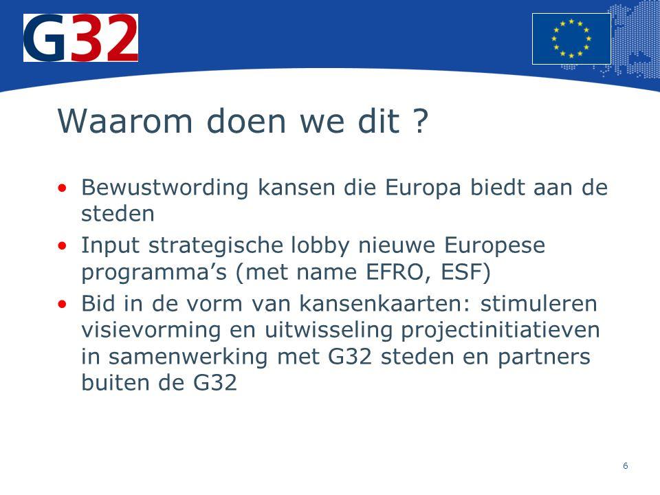6 Europese Unie Regionaal Beleid – Werkgelegenheid, sociale zaken en insluiting Waarom doen we dit .