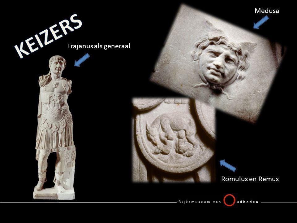 Romulus en Remus Trajanus als generaal Medusa