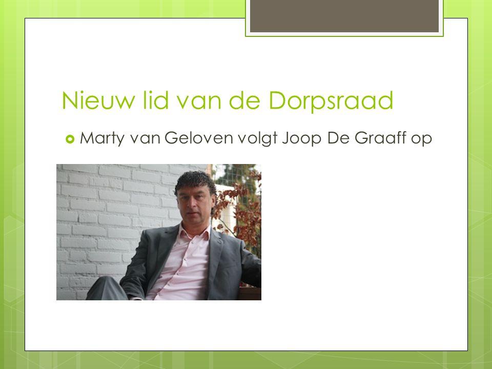Nieuw lid van de Dorpsraad  Marty van Geloven volgt Joop De Graaff op