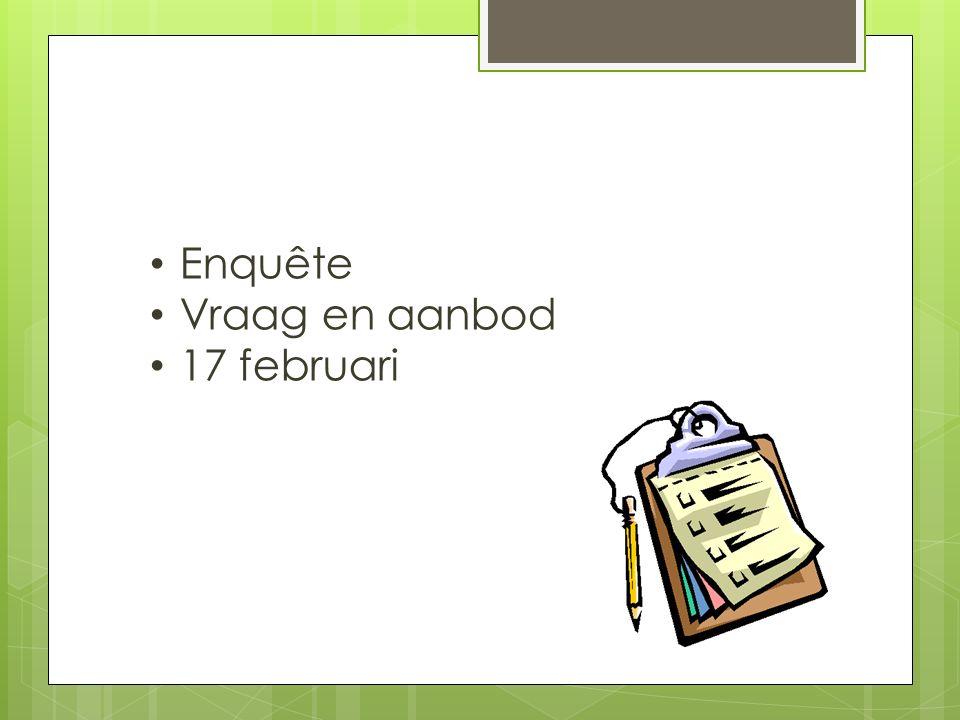 Enquête Vraag en aanbod 17 februari