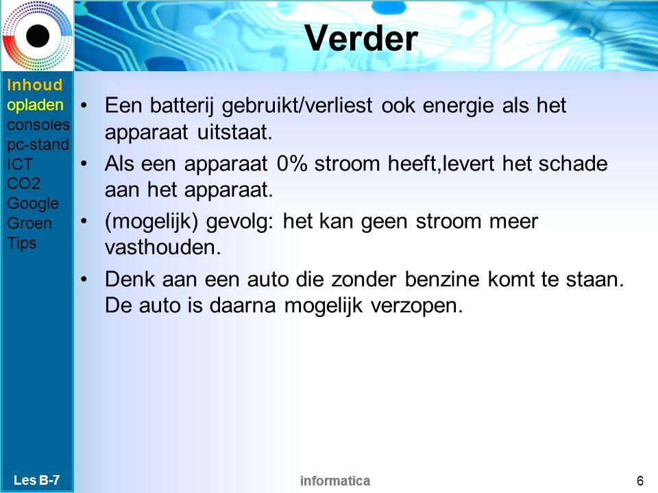 informatica Verbuik consoles Elke generatie consules verbruikt meer energie.
