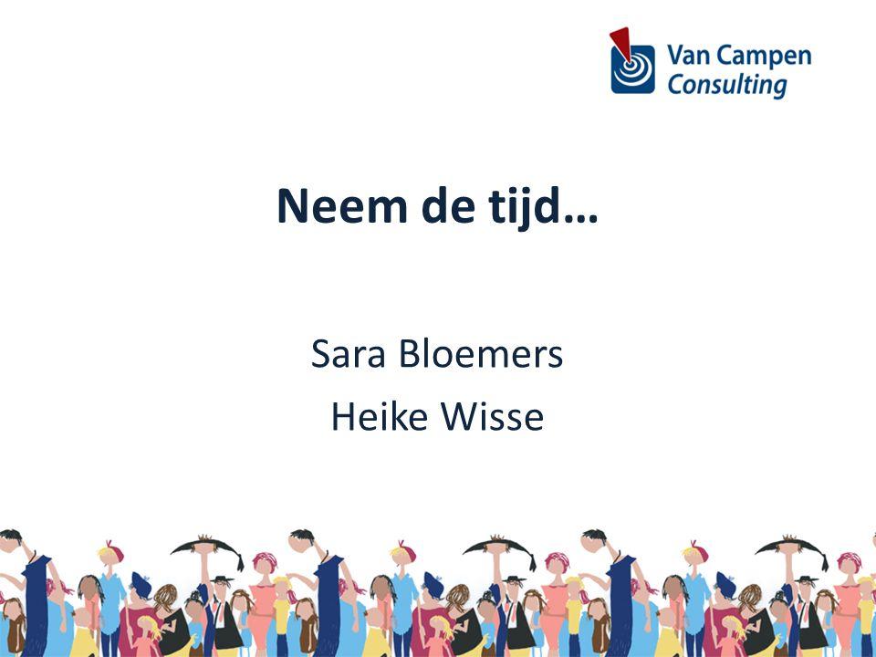Neem de tijd… Sara Bloemers Heike Wisse