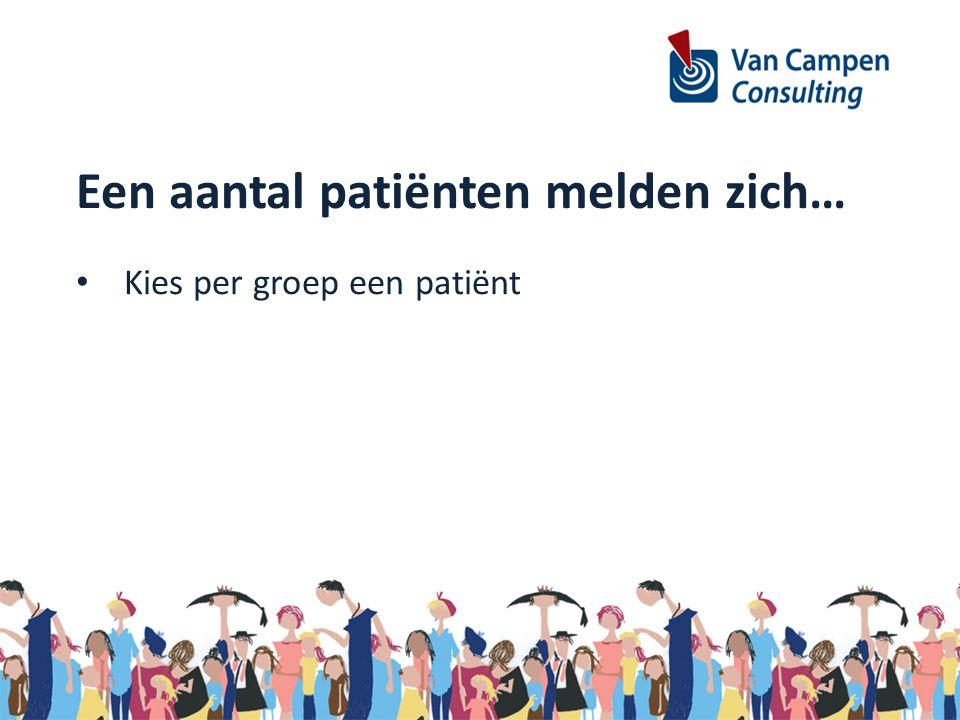 Kies per groep een patiënt