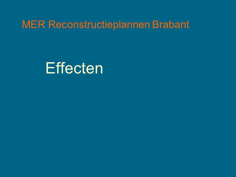 MER Reconstructieplannen Brabant Effecten