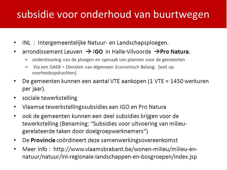 PDPOIII 2014-2020 INL : Intergemeentelijke Natuur- en Landschapsploegen.