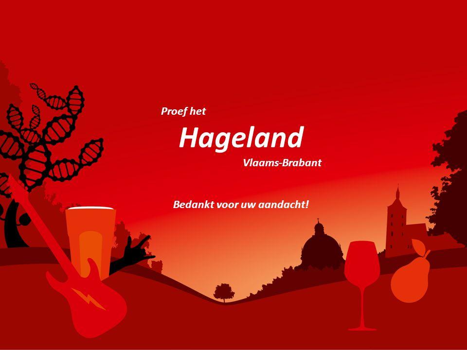 Proef het Hageland Vlaams-Brabant Bedankt voor uw aandacht!