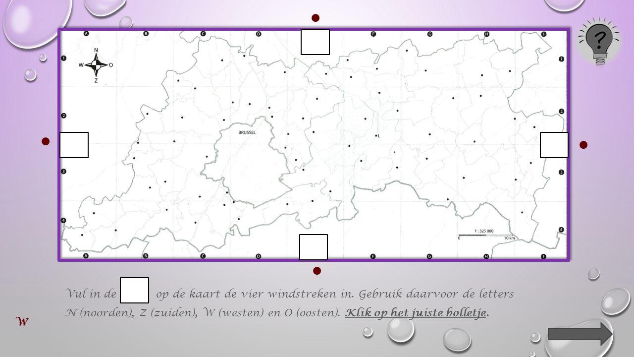 Als een kaart juist voor je ligt, is de bovenkant van die kaart het noorden.