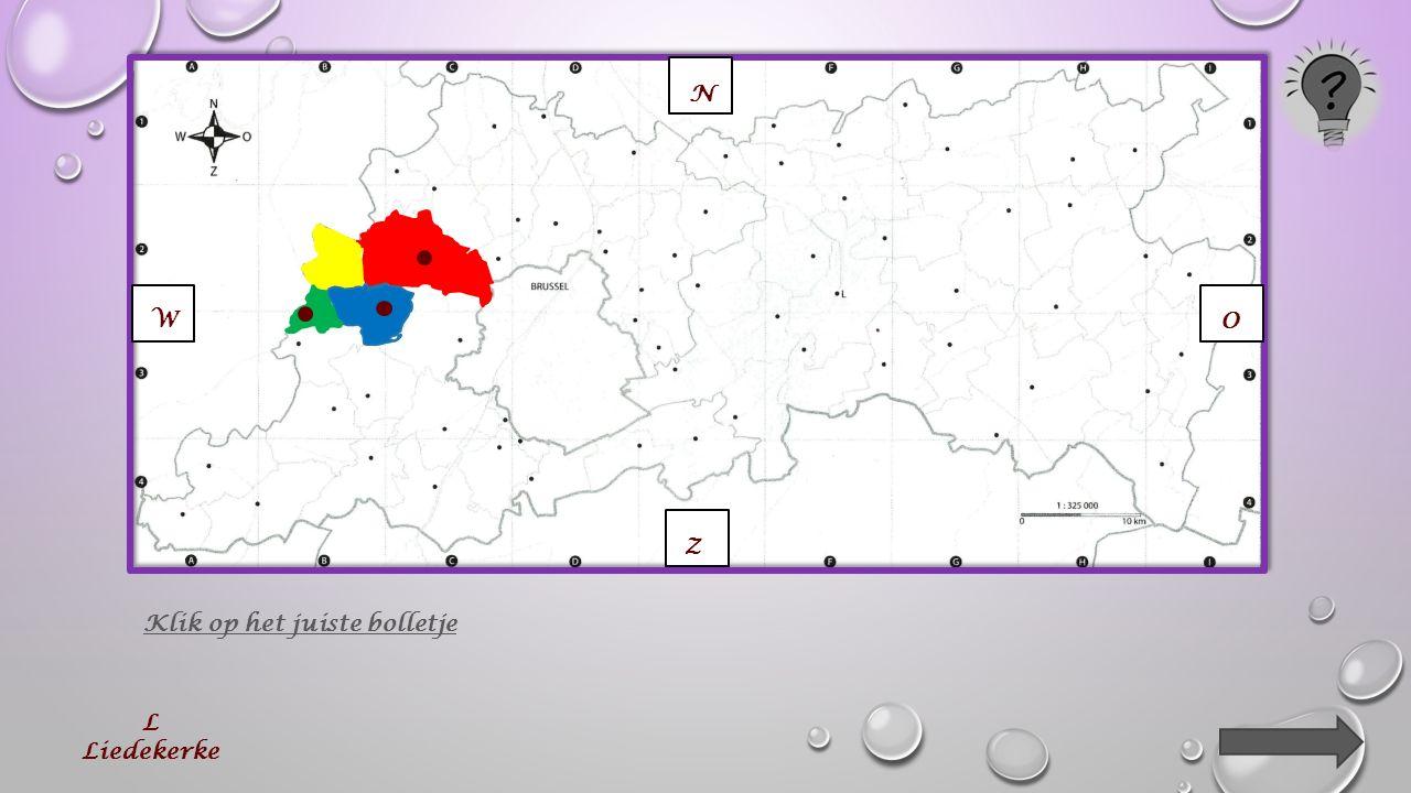 Klik op de lijnen van elke buurgemeente. (3) N O W Z