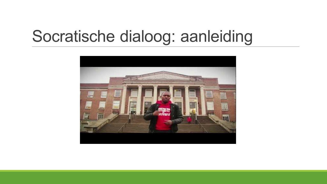 Socratische dialoog: aanleiding