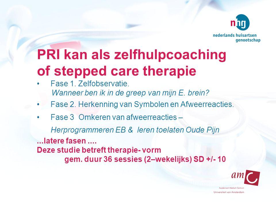 Ad 2.PRI aantrekkelijk voor wie . Baseline N 607 Hoge lijdensdruk (SCL 90- alg.