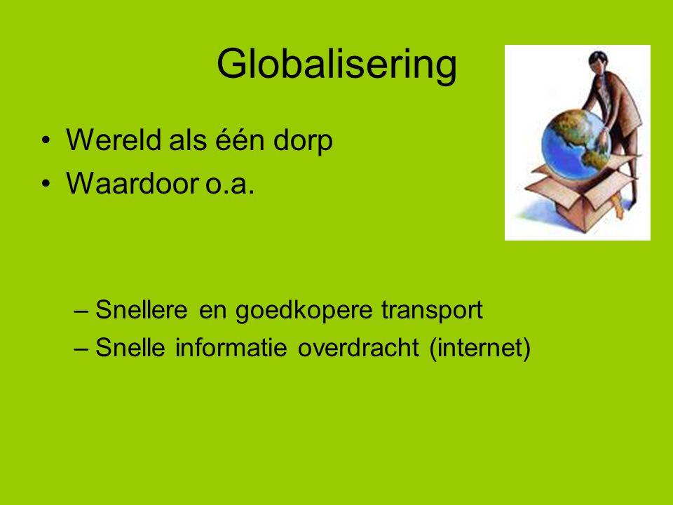 Globalisering NL.Nationale economie Nat. Buit. Politiek Nat.