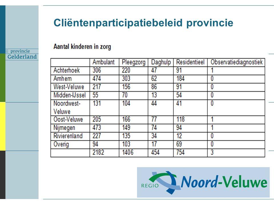 Cliëntenparticipatiebeleid provincie