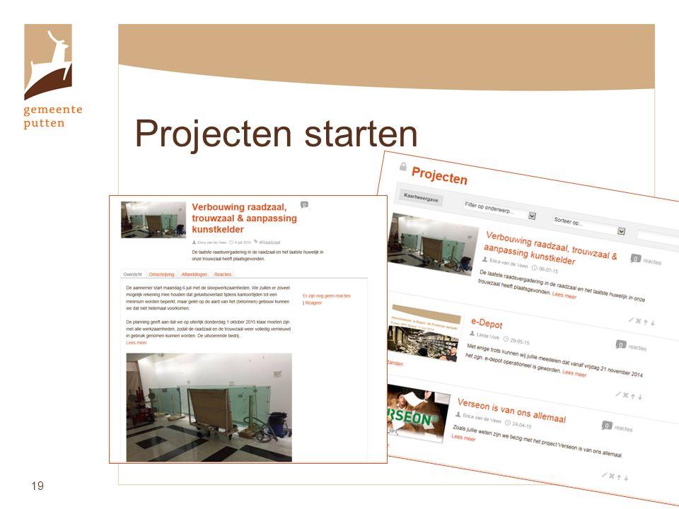 Projecten starten 19