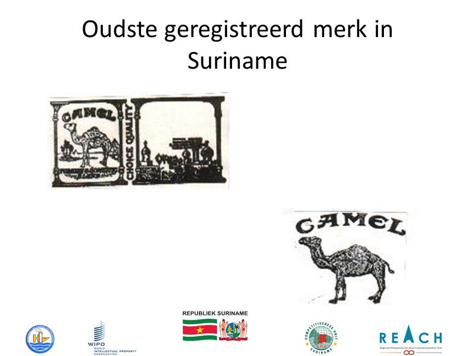 Oudste geregistreerd merk in Suriname
