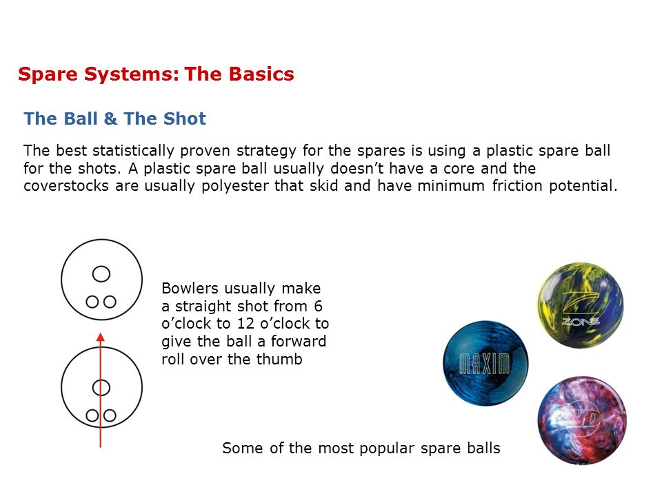 Spare Systems: The Basics Every Shot is a Single Pin Shot All spare systems are based on hitting a single pin.