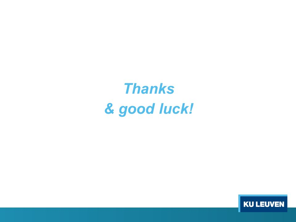Thanks & good luck!
