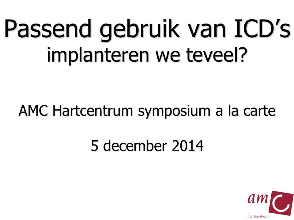Passend gebruik van ICD's implanteren we teveel.