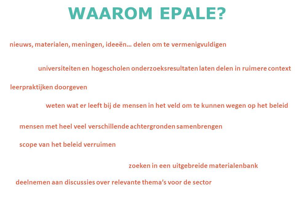 WAAROM EPALE.