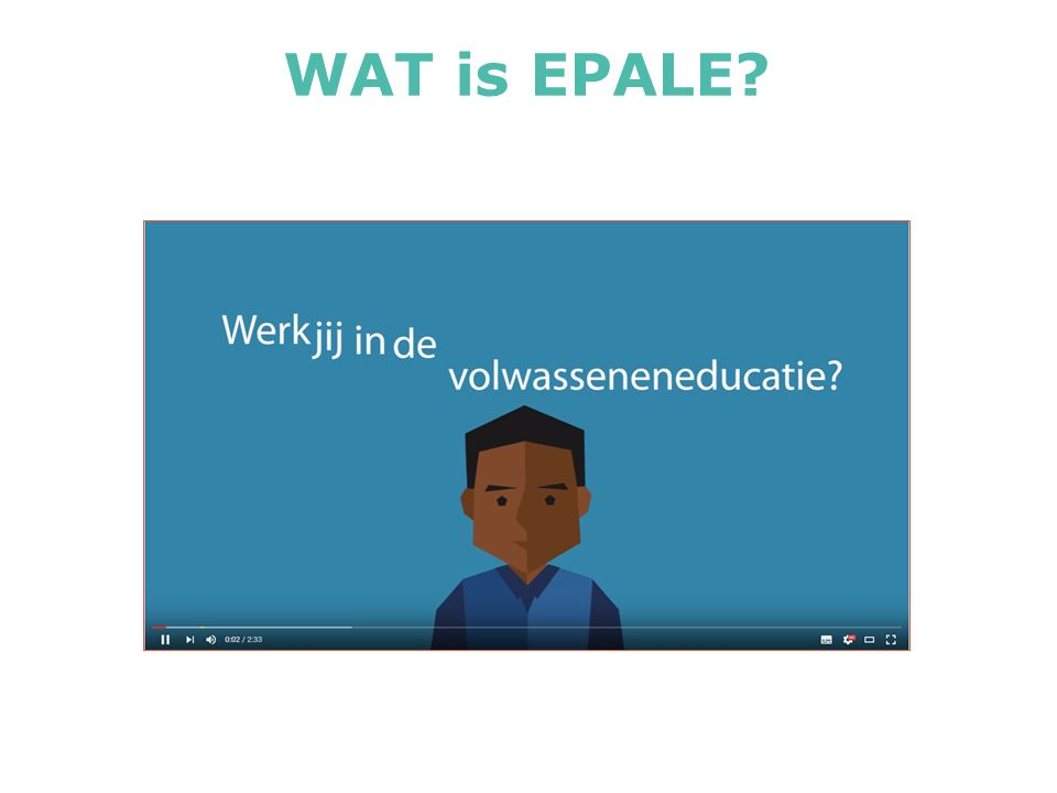 WAT is EPALE