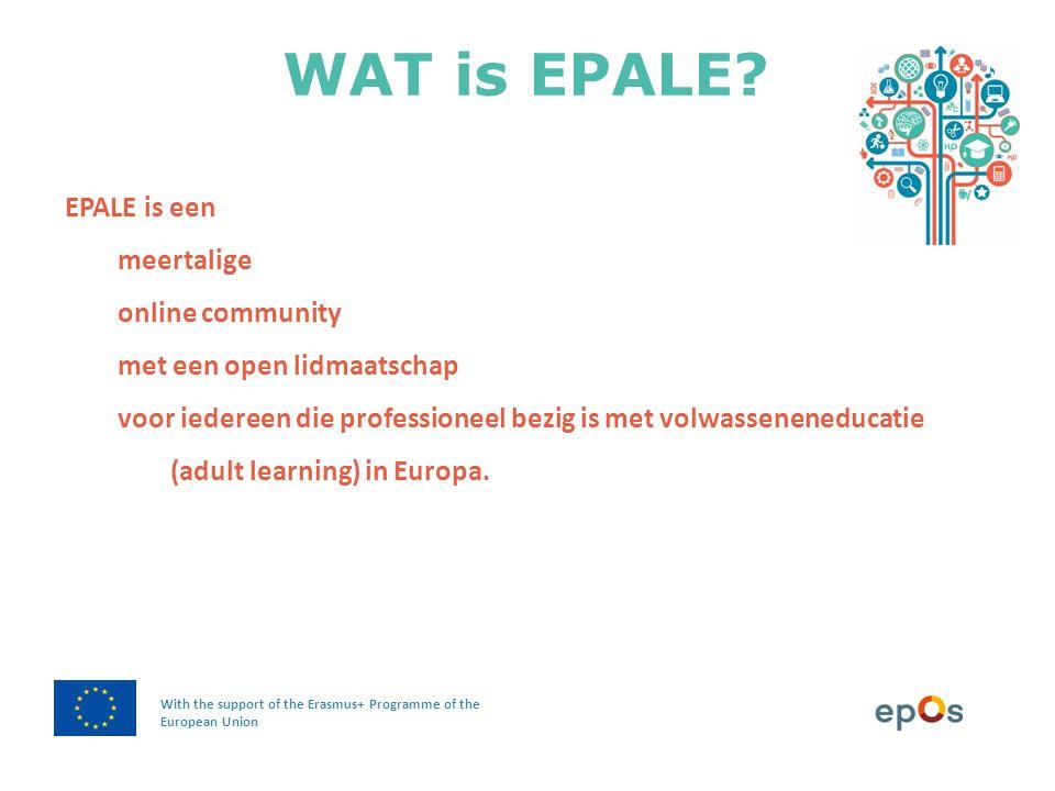 WAT is EPALE?