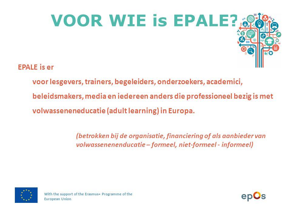 VOOR WIE is EPALE?