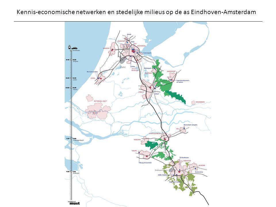 Kennis-economische netwerken en stedelijke milieus op de as Eindhoven-Amsterdam