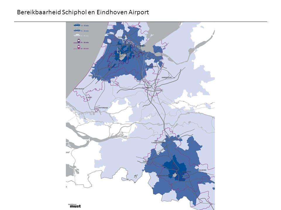 Bereikbaarheid Schiphol en Eindhoven Airport