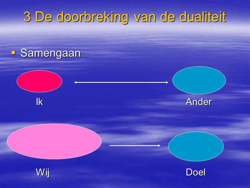 3 De doorbreking van de dualiteit  Samengaan IkAnder WijDoel