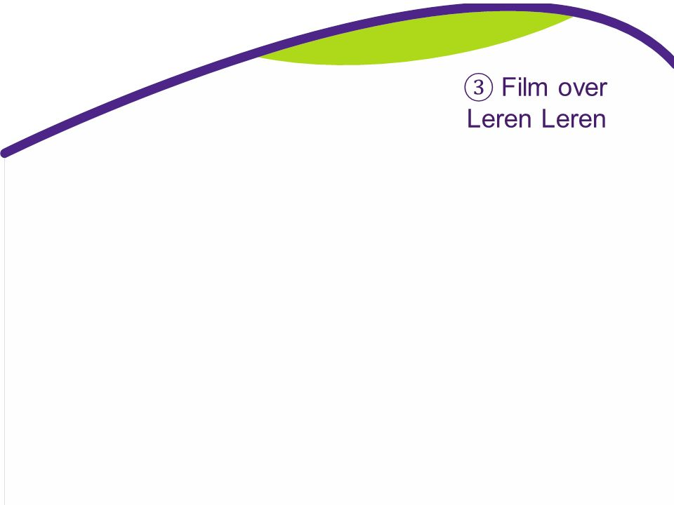 ③ Film over Leren