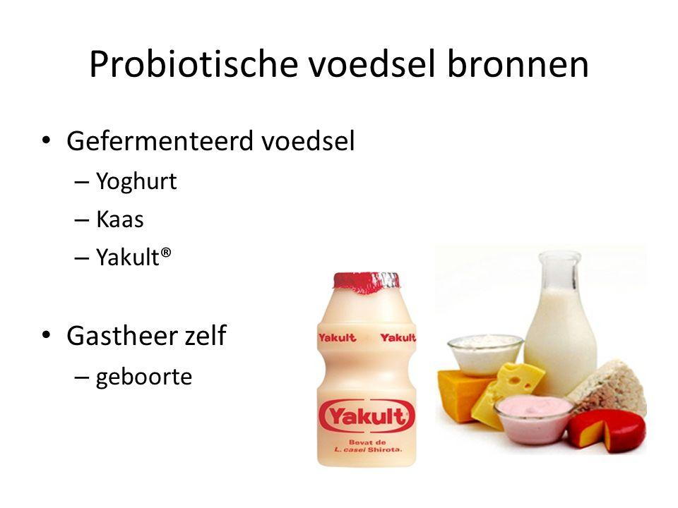 Probiotische voedsel bronnen Gefermenteerd voedsel – Yoghurt – Kaas – Yakult® Gastheer zelf – geboorte
