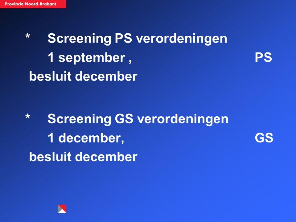 Fase 2: a.Vertaling van interne en externe regelgeving naar processen / proces update (voor 31-12-05).