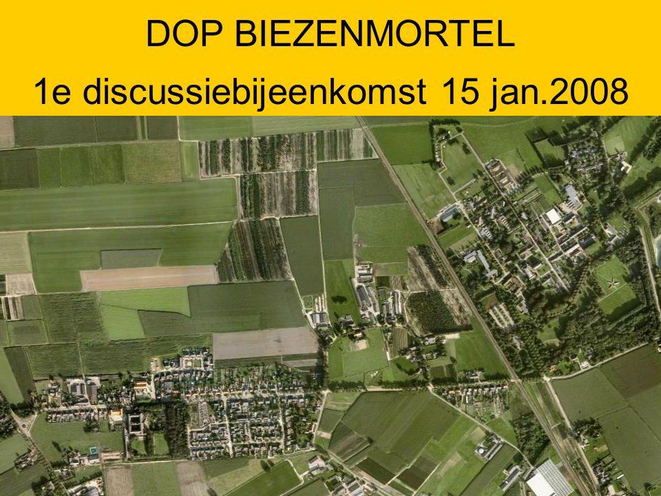 Aanvang 20.00 uur Inleiding DOP en resultaten enquête Pauze, koffie/thee Discussie in groepjes Afsluiting uiterlijk 22.30 uur AGENDA