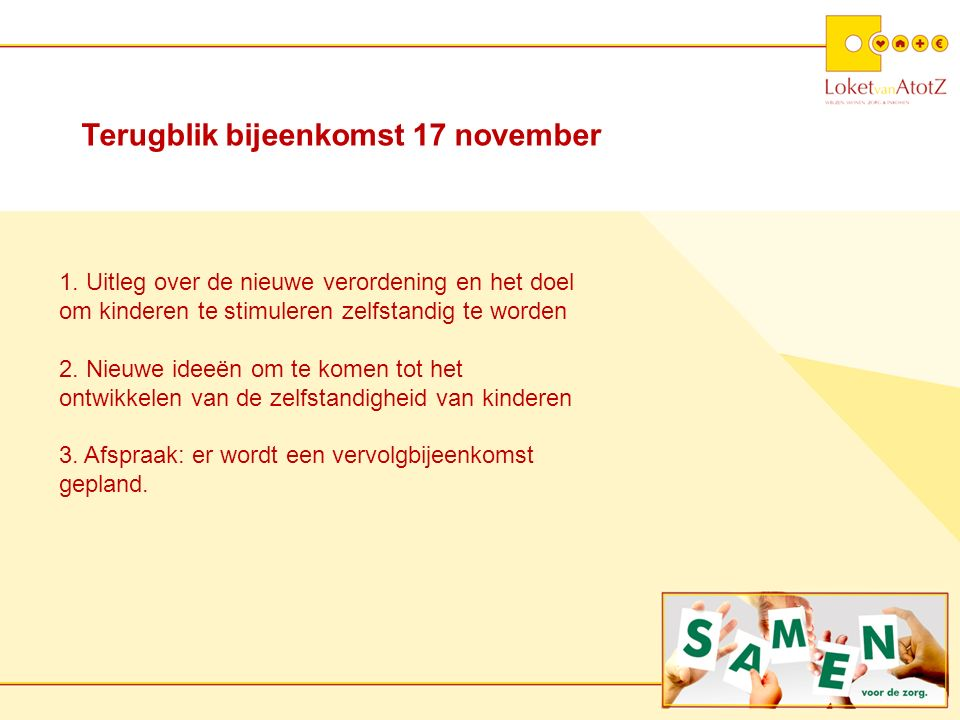 Terugblik bijeenkomst 17 november 1.