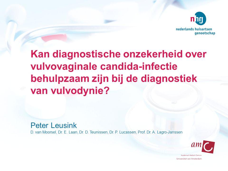 Kan diagnostische onzekerheid over vulvovaginale candida-infectie behulpzaam zijn bij de diagnostiek van vulvodynie.