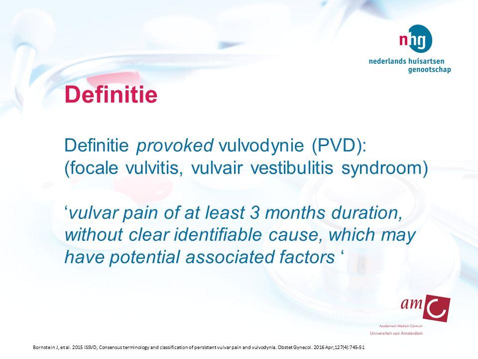 PVD schrijnende branderige vulva tijdens/na coïtus primair of secundair bekkenbodemhypertonie primaire of secundaire opwindingsstoornis NHG-Werkgroep Seksuele klachten.