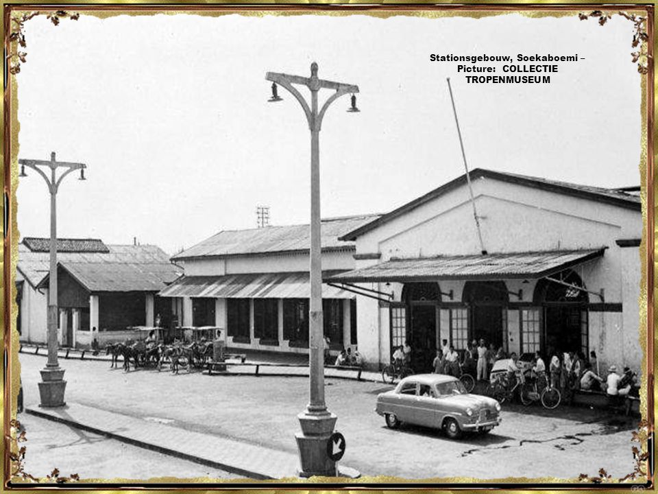 Stationsgebouw, Soekaboemi – Picture: COLLECTIE TROPENMUSEUM