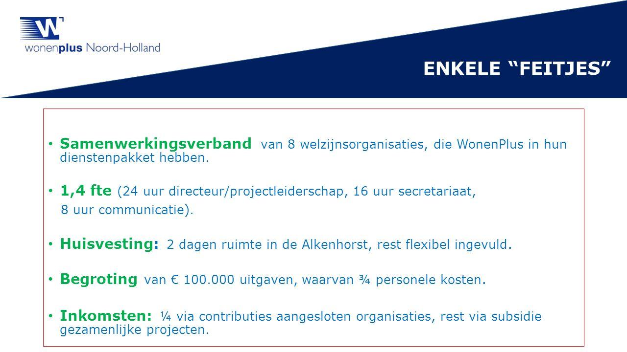 Samenwerkingsverband van 8 welzijnsorganisaties, die WonenPlus in hun dienstenpakket hebben.