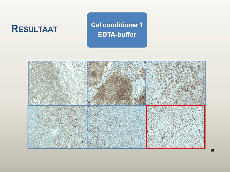 Cel conditioner 1 EDTA-buffer R ESULTAAT 16