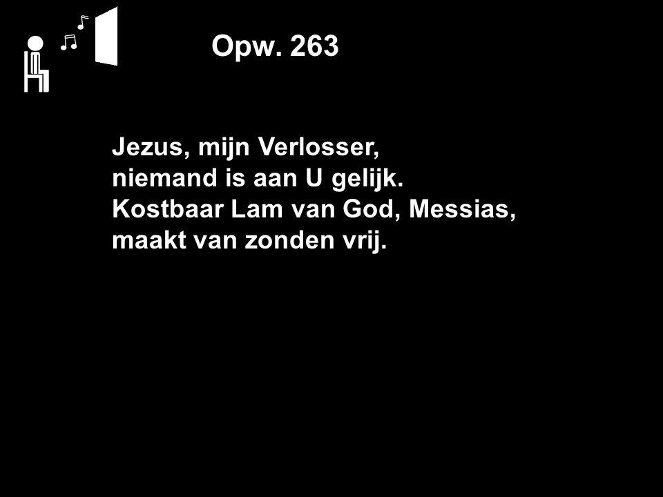 Opw. 263 Jezus, mijn Verlosser, niemand is aan U gelijk.