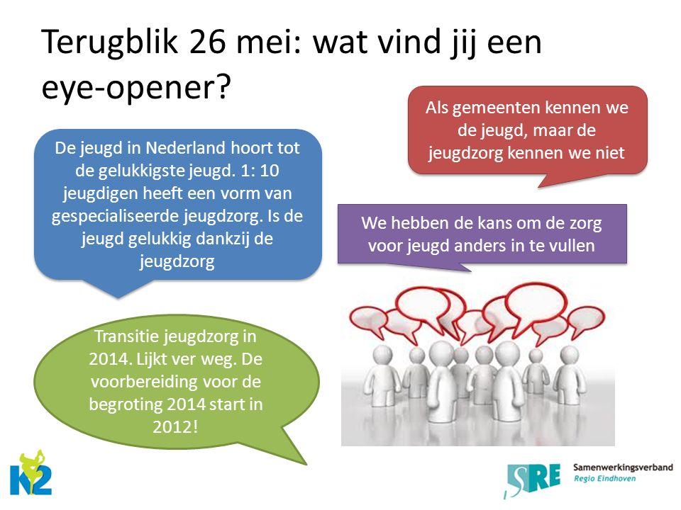 Terugblik 26 mei: wat vind jij een eye-opener. Transitie jeugdzorg in 2014.