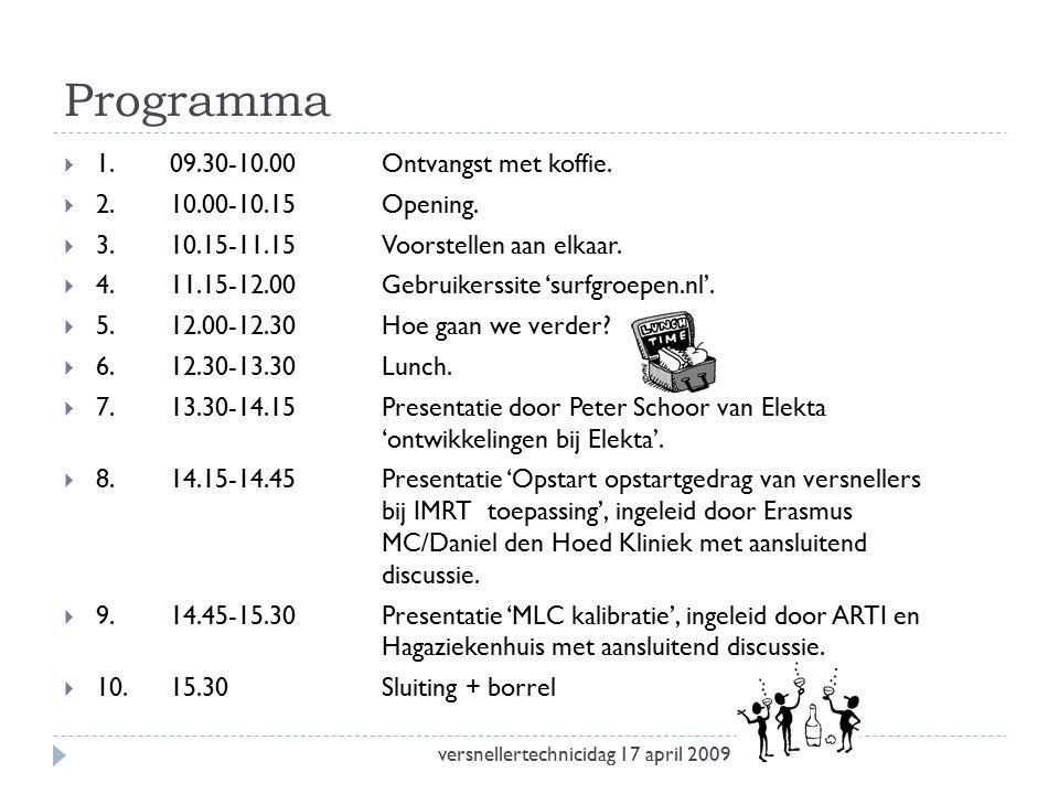 Programma  1.09.30-10.00Ontvangst met koffie.  2.10.00-10.15Opening.