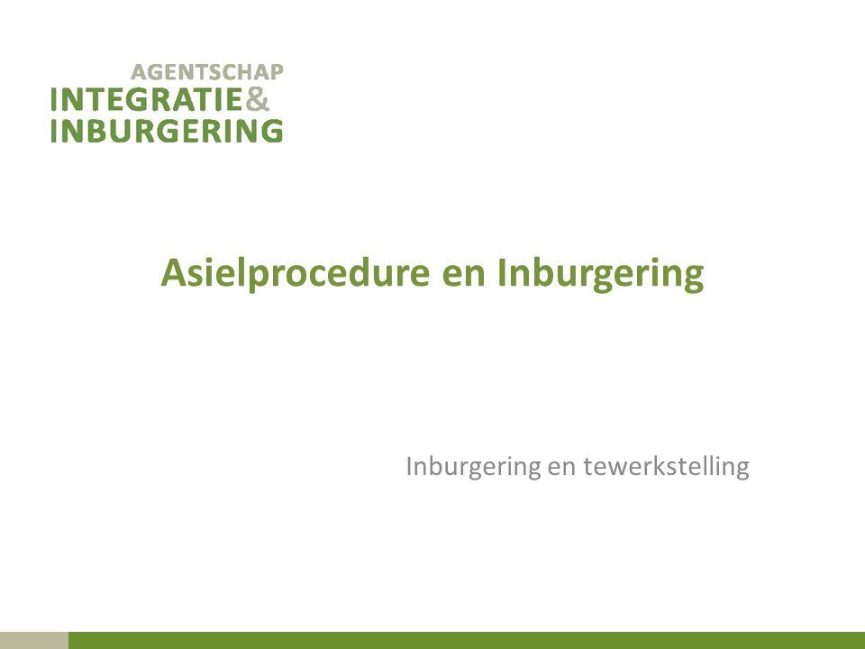 Asielprocedure en Inburgering Inburgering en tewerkstelling