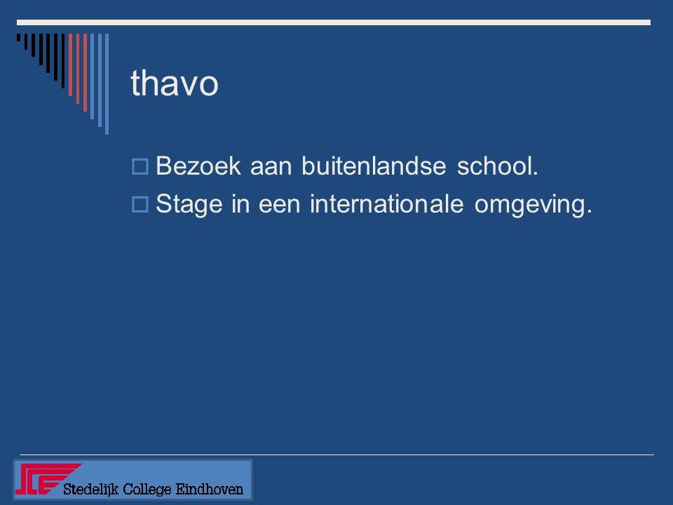 thavo  Geen activiteiten in examenjaar. 1 beschikbaar leerjaar.