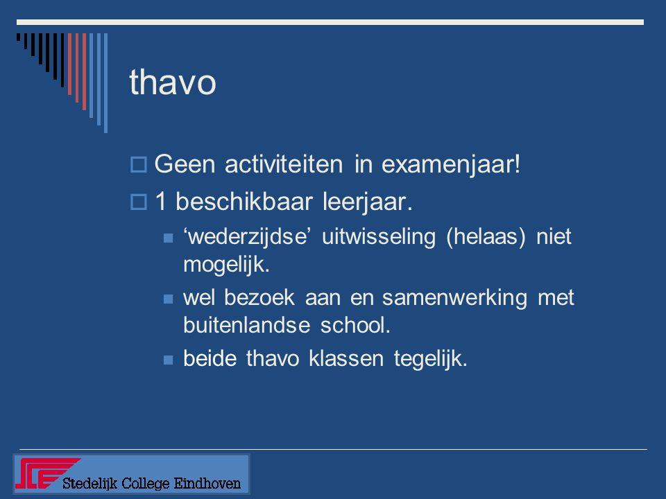 Wisseling van schoolsoort  Doorstromen van 5thavo naar 5tvwo is meedoen aan programma 5tvwo.
