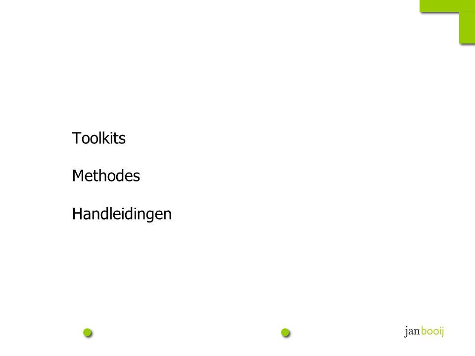 Toolkits Methodes Handleidingen